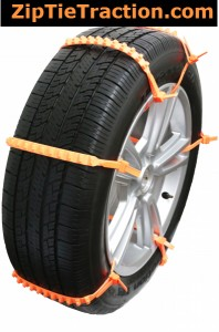 Zip Tie Tire Traction for SUV's and Cars